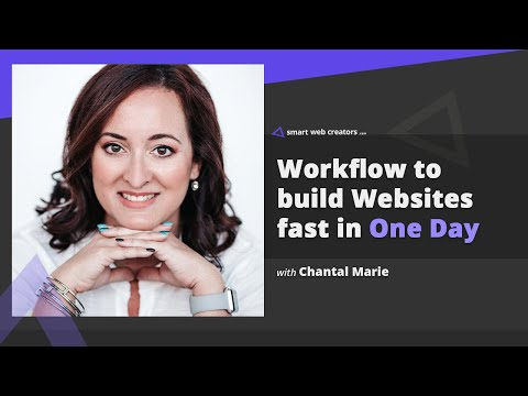 Workflow to build websites really fast in one day with Chantal Marie