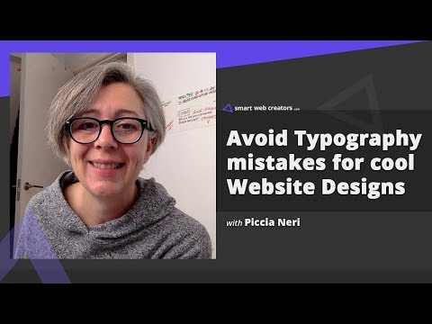 Typography mistakes to avoid for better website designs with Piccia Neri