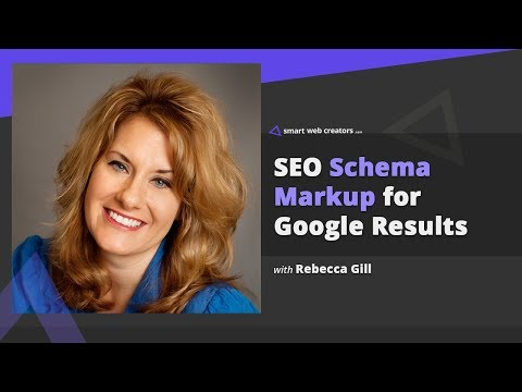 SEO Schema markup concept for better Google rankings with Rebecca Gill