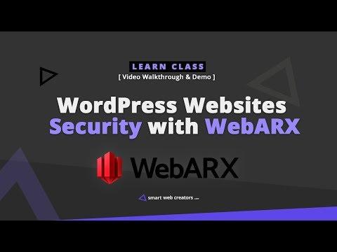 Using WebARX for WordPress Websites Security setup