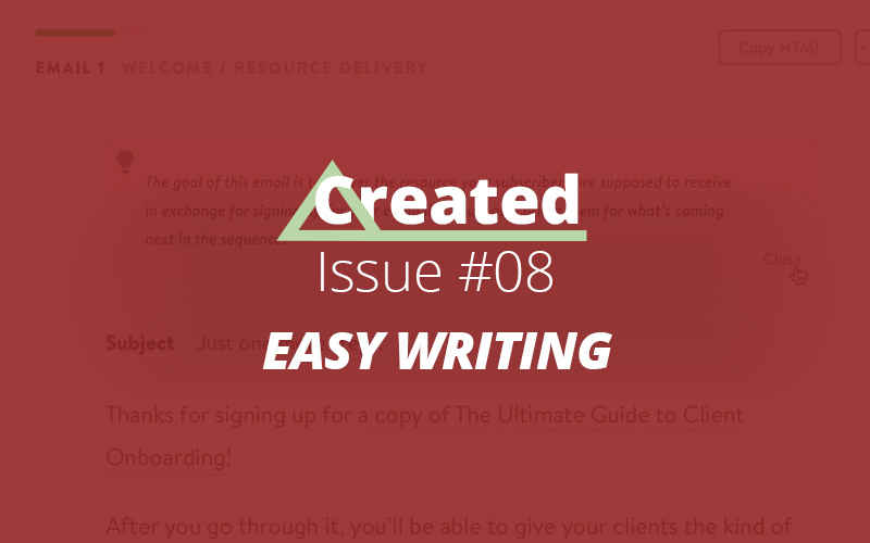 Created Issue 8 - Easy Writing