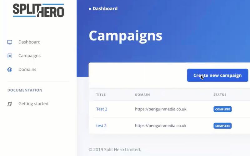 SplitHero Campaigns