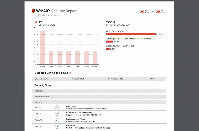 webarx security reports agency